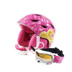 Zestaw dzieci�cy, dziewcz�cy, narciarski, snowboardowy: kask + gogle BARBIE
