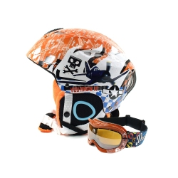 Zestaw dzieci�cy, narciarski, snowboardowy: kask + gogle PLANES