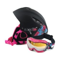 Zestaw dzieci�cy, narciarski, snowboardowy: kask + gogle MONSTER HIGH