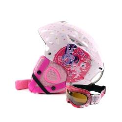 Zestaw dzieci�cy, narciarski, snowboardowy: kask + gogle MY LITTLE PONY