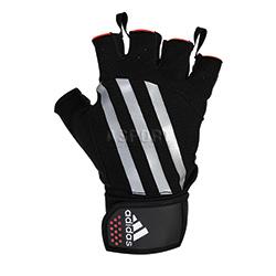 Rękawiczki kulturystyczne, skórzane Adidas
