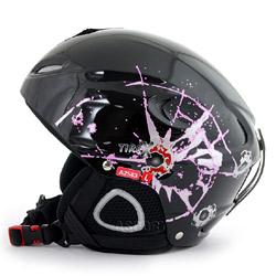 Kask narciarski, snowboardowy TIREX BLACK A2563 Axer