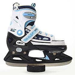Łyżwy regulowane, dziecięce, płoza hokejowa MELL Axer
