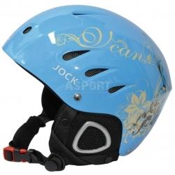 Kask narciarski, snowboardowy JOCK FLOWER/SEA BLUE Axer