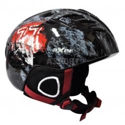 Kask narciarski, snowboardowy RAVEN A2556 czarny Axer