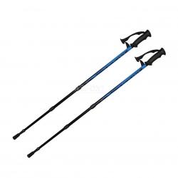 Kije trekkingowe, 3-częściowe, regulowana długość, Anti-Shock ARDEN BLUE