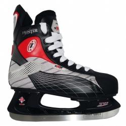 Łyżwy hokejowe, hokejówki, stalowa płoza, sznurowane HUNTER Axer