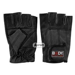 Rękawiczki skórzane do ćwiczeń, rozmiar XL, czarne Body Sculpture