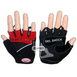 Rękawiczki fitness GEL SHOCK czerwone Dragon Sports