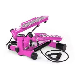 Stepper skośny z linkami i licznikiem HS-30S różowy Hop-Sport