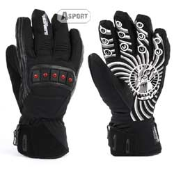 Rękawice narciarskie, męskie, z ociepleniem Thinsulate FALCON BLACK