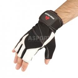 Rękawiczki treningowe, kulturystyczne, skóra naturalna 35% GRIP 100 Meteor