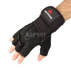 Rękawiczki treningowe, kulturystyczne, skóra syntetyczna GRIP 60 Meteor