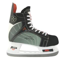 Łyżwy hokejowe, hokejówki  NH401S czarno-szare Nils Extreme