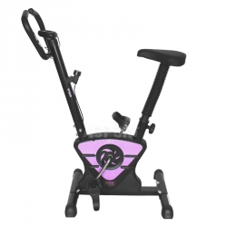 Rower mechaniczny, z pomiarem pulsu W7208 fioletowy One Fitness