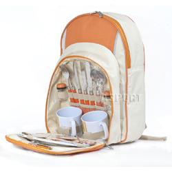 Plecak piknikowy + 2 talerze, 2 kubki, sztućce, akcesoria Rockland