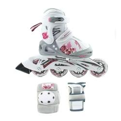 �y�worolki regulowane, dzieci�ce + ochraniacze PHASER XR COMBO G Bladerunner