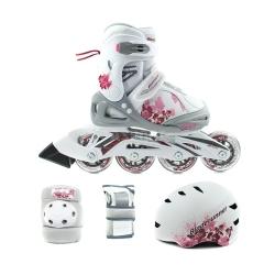 �y�worolki regulowane, dzieci�ce + ochraniacze + kask PHASER XR CUBE G Bladerunner