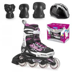 �y�worolki regulowane, dzieci�ce + ochraniacze + kask SPITFIRE CUBE G Rollerblade