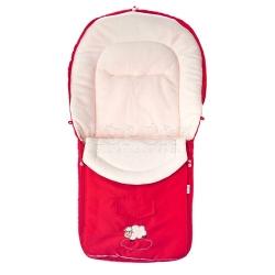 Śpiworek do wózka POLAR czerwony Sensillo