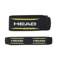 Rzepy do nart HEAD H6 2szt. czarno-bia�o-��te
