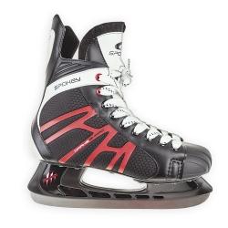Łyżwy hokejowe, hokejówki, sznurowane DRAKE Spokey