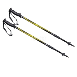 Kije trekkingowe, 3-częściowe, regulowana długość, Anti-Shock FATRA YELLOW