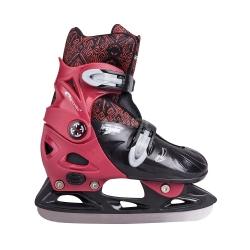 Łyżwy dziecięce, regulowane, hokejowe PEEWEE czerwone Spokey
