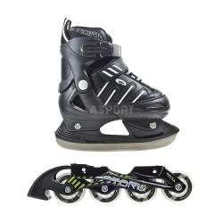 Rolki + łyżwy regulowane, 2w1, dziecięce, płoza hokejowa STORM