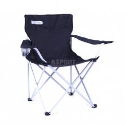 Krzesło turystyczne, wędkarskie, składane ANGLER czarno-szare Spokey