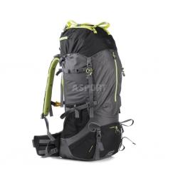 Plecak turystyczny, trekkingowy 65l GR65 szaro-czarny Spokey