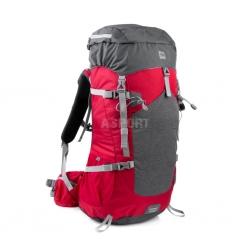 Plecak turystyczny, trekkingowy 50l LUKLA czerwono-szary Spokey