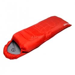 Śpiwór turystyczny typu kołdra z kapturem 180+30 cm, ocieplenie 190g SportVida