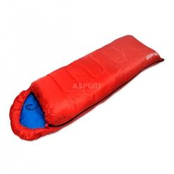 Śpiwór turystyczny typu kołdra z kapturem + WINDSTOP, ocieplenie 250g SportVida