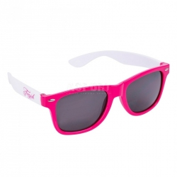 Okulary przeciwsłoneczne, filtr UV RETRO różowe Tempish