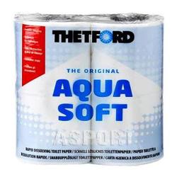 Papier toaletowy do toalet chemicznych 4 rolki AQUA SOFT