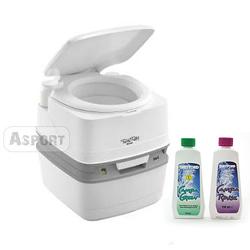 Przenośna toaleta turystyczna 21l QUBE XGL + płyny 2x150 ml Thetford