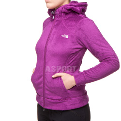 Bluza polarowa, damska, UPF 30, z kapturem NASHIRA MOSSBUD The North Face