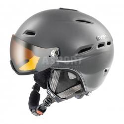 Kask narciarski, snowboardowy, reguowany, z szybk� HLMT 300 VISOR Uvex
