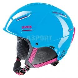 Kask narciarski, snowboardowy, dziewcz�cy, m�odzie�owy P1US JUNIOR Uvex