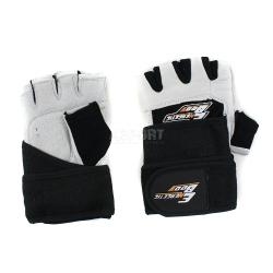 Rękawiczki treningowe, fitness, skóra naturalna, z usztywnieniem Energetic Body