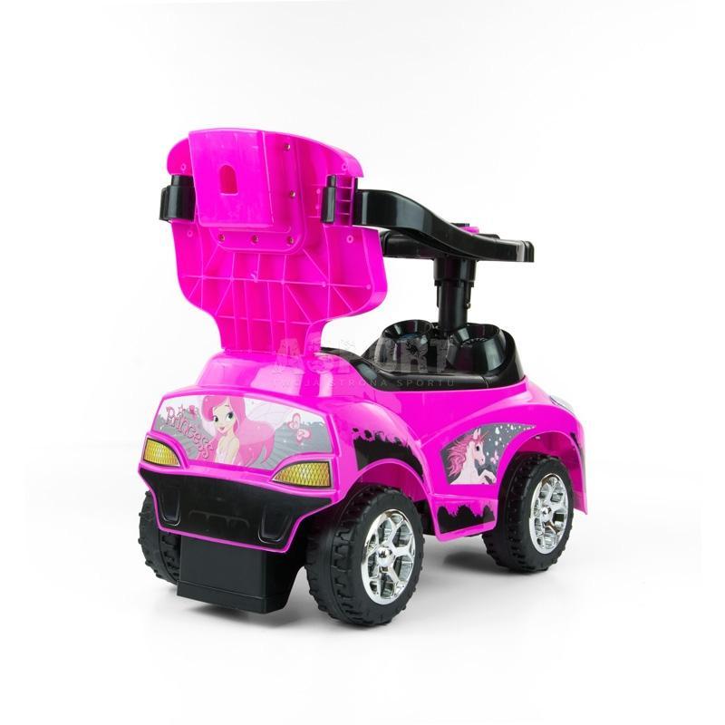 Jeździk, pchacz dziecięcy, pojazd 3w1 HAPPY fioletowy Milly Mally