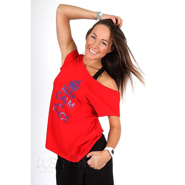 Wszystkie nowe Koszulka fitness, do tańca, na zumbę FASHION PRINT 2skin | Sklep XF07