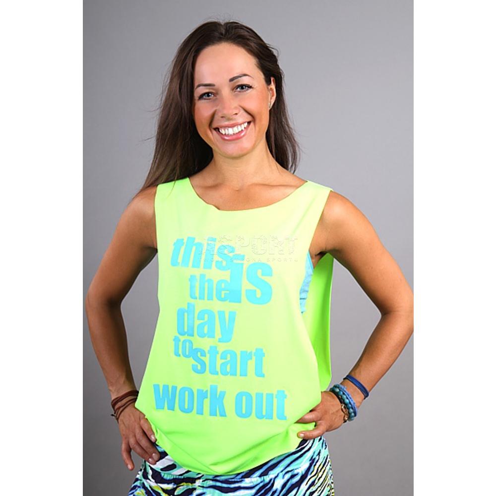 Masywnie Koszulka damska, narzutka, do tańca, na zumbę, fitness SUPRA 2skin YO33