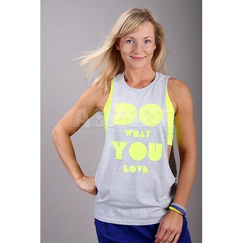 08bc0291e33e2a Koszulka damska, narzutka, na fitness, do tańca JUST DO IT 2skin ...