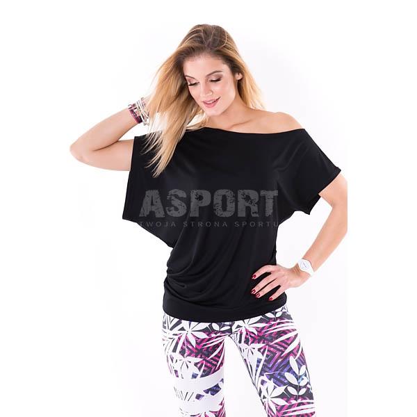 eae8d2b0f4236f Koszulka na fitness, zumbę, do tańca, oversize MORGAN czarna 2skin ...