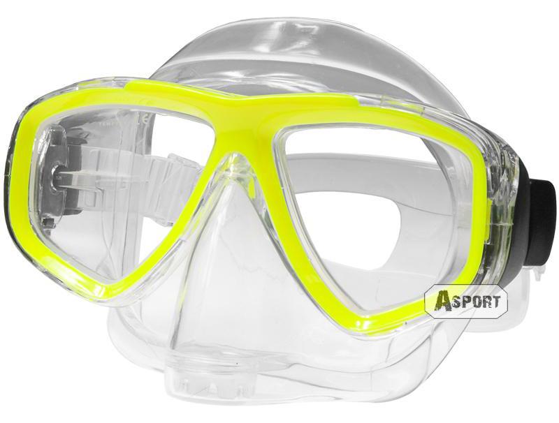 Maska optyczna ujemna korekcja ARIWA yellow Aqua Speed