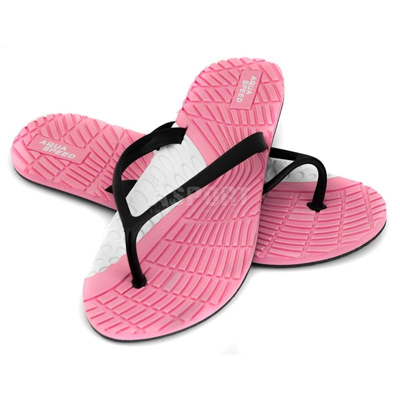 1c99092da61dc Klapki damskie, japonki, na basen, na plażę BAHAMA różowe Aqua-Speed ...