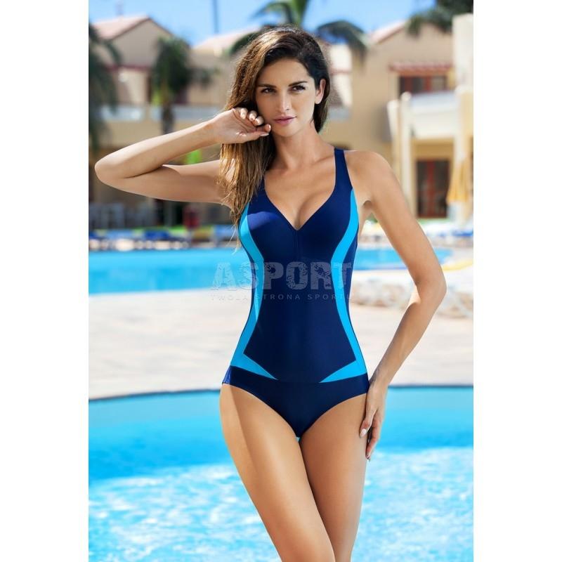 8394ee0bdc5b38 Strój kąpielowy jednoczęściowy GRETA Aqua-Speed - Kolor granatowo-niebieski