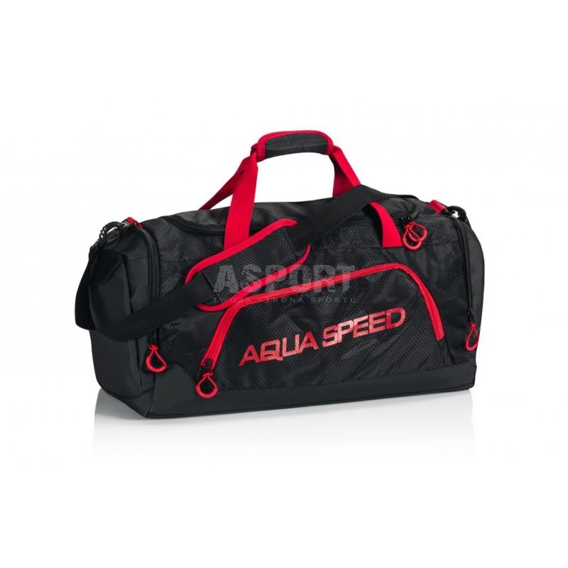 a21bf6cb06ac6 Torba sportowa, na basen, na siłownie, rozmiar L czarno-czerwony Aqua-